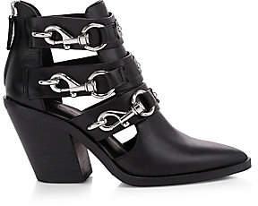Rebecca Minkoff Women's Seavie Dog Clip Buckle Leather Ankle Boots