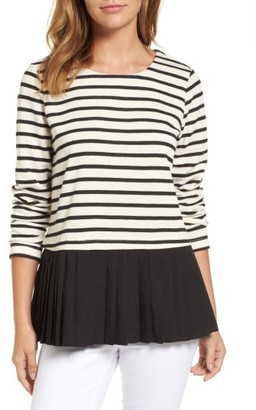 Women's Pleione Pleat Inset French Terry Top $69 thestylecure.com