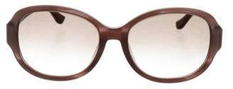 Salvatore Ferragamo Marbled Round Sunglasses