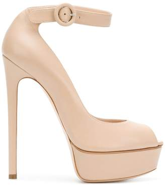 Casadei peep toe sandals