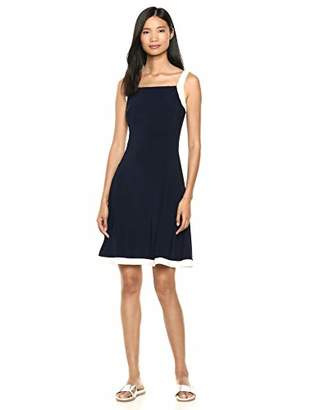 Chaps Women's Colorblock Jersey Dress with Tank Straps