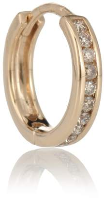 Anna Sheffield Licol 14kt gold and diamonds single hoop earring