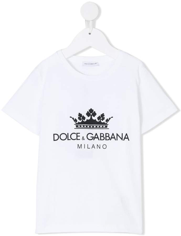 Dolce & Gabbana Kids crown print T-shirt