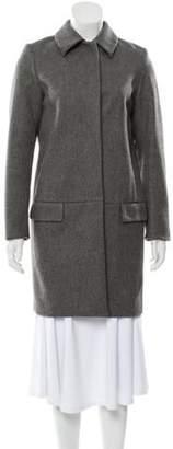 Acne Studios Wool Knee-Length Coat Grey Wool Knee-Length Coat