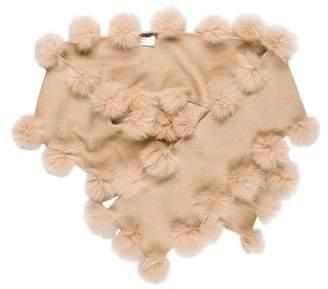Jocelyn Fur-Trimmed Cashmere Scarf