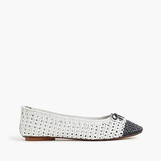 J.Crew Dragon DiffusionTM for woven ballet flats