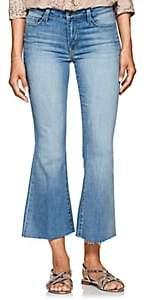 L'Agence Women's Sophia Crop Flared Jeans - Blue