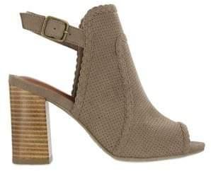 Mia Pat Faux Suede Ankle Strap Sandals