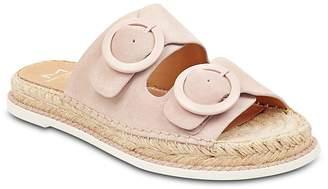 Marc Fisher Women's Ramba Suede Espadrille Slide Sandals