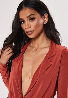 Missguided Look Bar Drop Necklace