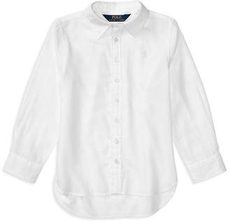 Polo Ralph Lauren Girls' High-Low Oxford Shirt - Little Kid
