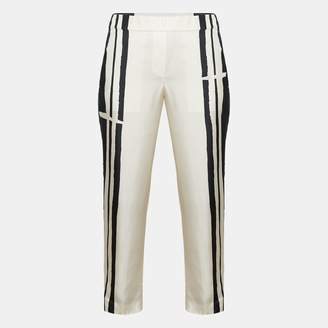 Theory Silk Twill Striped Pull-On Trouser