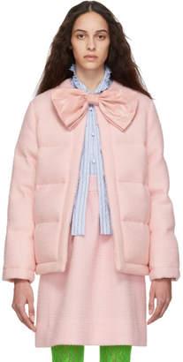 Gucci Pink Down Tweed Jacket