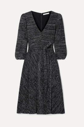 Alice + Olivia Coco Stretch-lurex Midi Dress - Black