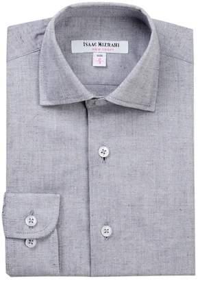 Isaac Mizrahi Chambray Dress Shirt (Toddler, Little Boys & Big Boys)