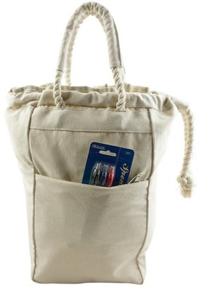 K-Cliffs Heavy Duty Canvas 2-in-1 Drawstring Backpack & Tote Bag, White