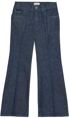 Gucci Kids Appliqued flared jeans