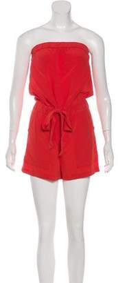 Diane von Furstenberg Silk Off-The-Shoulder Romper