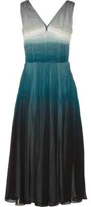 Burberry Dégradé Silk-Crepe Dress