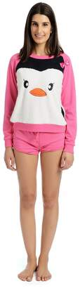 Body Candy Junior's Pajama 2 Piece Long Sleeve top and Short Set