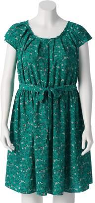 Lauren Conrad Plus Size Floral Pleated Dress