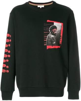 Les Benjamins printed patch stripe sweatshirt