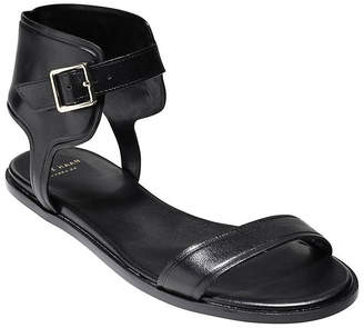 Cole Haan Barra Ankle Wrap Leather Sandal