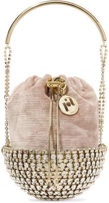 Rosantica Kingham Embellished Velvet Clutch - Gold