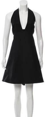 Halston High-Low Halter Dress w/ Tags