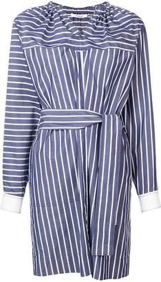 Derek Lam 10 Crosby Belted Striped Cotton Shirt Dress
