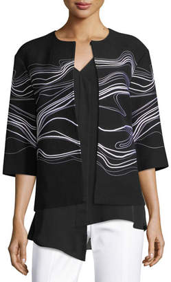 St. John Bella Double Weave Jacket