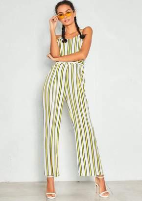 160c8384569 at Missy Empire · Missy Empire Missyempire Teresa White Yellow Stripe  Spaghetti Strap Jumpsuit