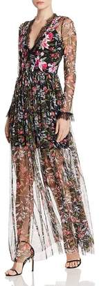 French Connection Flori Embroidered Maxi Dress