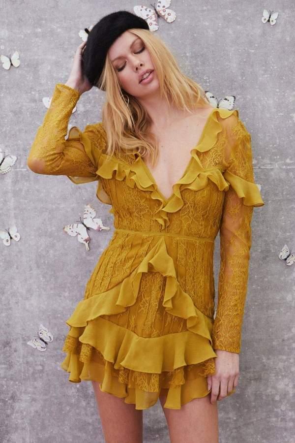 For Love & Lemons Daphne Lace Mini