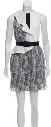 Self-Portrait Sleeveless Printed Mini Dress w/ Tags