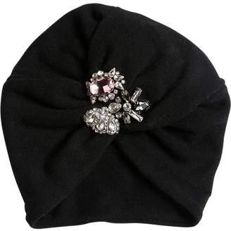 MonnaLisa Embellished Cotton & Angora Knit Hat