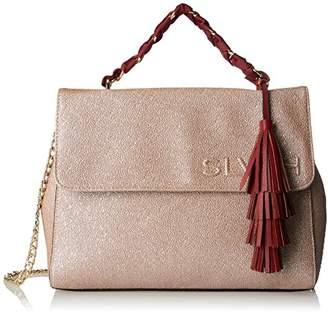 Silvian Heach Shoulder Bag Cobdar, Women's Cross-Body Bag, Oro (Pink Gold), 14.50x27x33 cm (W x H L)