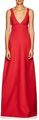 Valentino Women's Cutout Wool-Silk Crepe Gown - Red