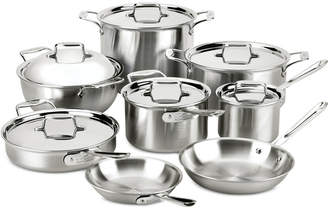 All-Clad 14-Pc. Brushed Stainless Steel Cookware Set