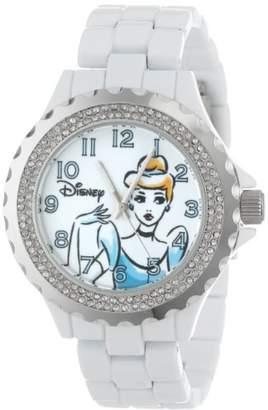 EWatchFactory Disney Women's W001002 Cinderella White Enamel Watch