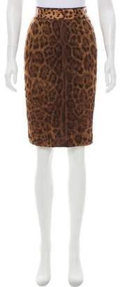Dolce & Gabbana Silk Leopard Printed Skirt