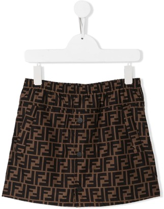 Fendi logo straight skirt