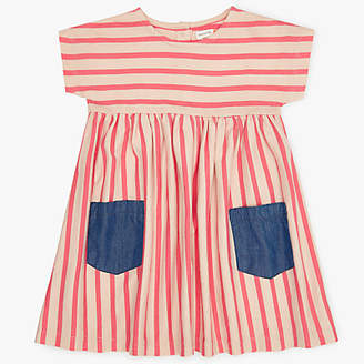 John Lewis Stripe Dress, Pink/Blue
