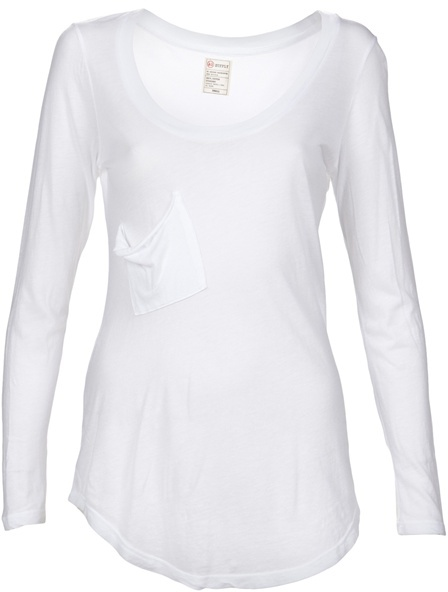 ADRIANO GOLDSCHMIED Long sleeve scoop neck
