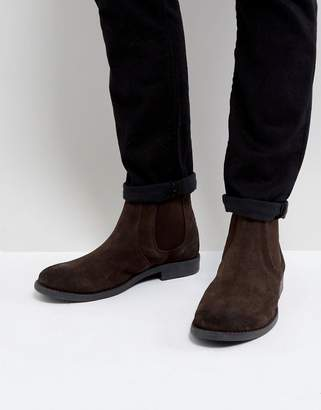 Frank Wright Round Toe Suede Chelsea Boots