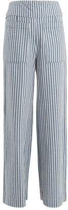 Ace&Jig Davis Striped Wide Leg Trousers - Womens - Blue Stripe