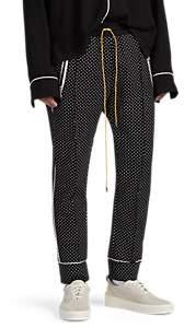 RHUDE Men's Dot-Pattern Jersey Smoking Pants - Black Pat.
