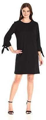 Ronni Nicole Women's 3/4 Tie Sleeve A-Line Dress