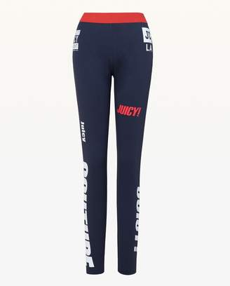 Juicy Couture Mixed Logo Sport Compression Legging