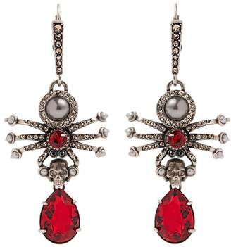Alexander McQueen Embellished-spider earrings